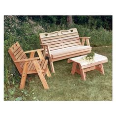 Cedar Country Hearts Furniture Collection By Creekvine Specifications Bench: x x Chair: x x Bench Seat: x x Chair Seat: x x End Table: x x Bench Weight: 38 lbs Chair Weight: 24 lbs End Table Weight: 15 lbs Bench Capacity: 690 lbs Chair Capacity:
