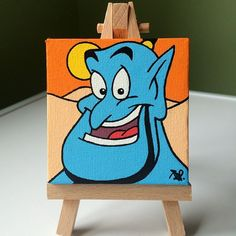 Finished this one today 😊 Still feeling the love for the Genie! Finished this one today 😊 Still feeling the love for the Genie! Disney Canvas Paintings, Disney Canvas Art, Cute Paintings, Disney Art, Easy Canvas Art, Small Canvas Art, Easy Canvas Painting, Mini Canvas Art, Toile Disney