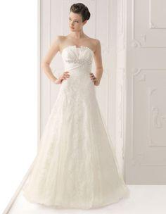 Modern Lace A Line Wedding Dress