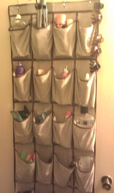 Over the door shoe rack for small bathroom storage ideas