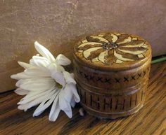 "Razzle- Dazzle Flowered 2"" Wooden Box 