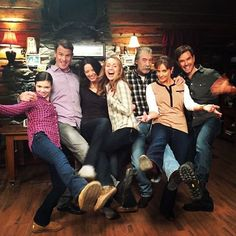 (People from left to right) Georgina Fleming (Played by Alisha Newton) Petter Morris (Played by Gabriel Hogan) Louis Samantha Morris Fleming (Played by Michelle Morgan) Amy Fleming (Played by Amber Marshall) Jack Bartlett (Played by Shaun Johnston) Lisa Stillman (Played by Jessica Steen) Ty Borden (Played by Graham Wardle) #alltheactorsinthephotoareamazing! #myfamily