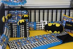 Batman Baby Bedding  free personalized pillow by bedbugscreations, $325.00