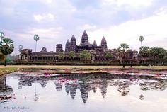 Angkor Wat è una delle meraviglie al mondo, iscritto al patrimonio mondiale dell'umanità dell'Unesco. Simbolo nazionale della Cambogia. #ChiardilunaMaterassi