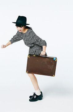 This outfit is amazing and so fun! And that friggin briefcase is
