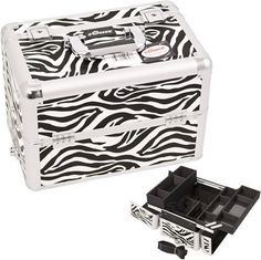WHITE INTERCHANGEABLE EASY SLIDE & EXTENDABLE TRAY ZEBRA TEXTURED PRINTING PROFESSIONAL ALUMINUM COSMETIC MAKEUP CASE WITH DIVIDERS - E3302 by SunRise. $65.99. FEATURES New interchangeable series. Attachable to any E series rolling cases. This line will allow customer to mix and match any E series cases according to their needs. The most affordable way to customize your beauty case High quality aluminum finish and construction with reinforced steel corners for extra ...