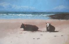 Nguni Cattle at Mazeppa Bay  JUST SOLD  #artistsoninstagram #artsy #seascapes #contemporaryart #ngunicattle #wildcoast #easterncape #beach #cowsonthebeach