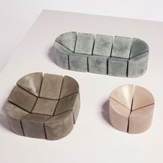 PHILIPPE MALOUIN, 1:4 WAXED CONCRETE BOWLS: genius indented shapes and such…