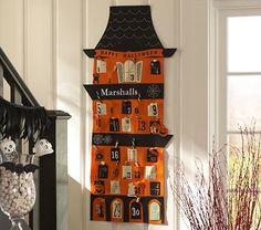 Halloween House Countdown Calendar #PotteryBarnKids