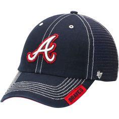 7df2d717659 Atlanta Braves  47 Turner Clean-Up Adjustable Hat - Navy