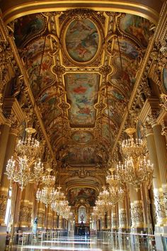 Hall of Mirrors in Versailles... stood in this very hall trying to imagine some of the events that transpired here...