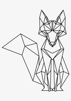 Tattoo Geometric Fox Origami 67 Ideas For 2019 Tape Art, Geometric Fox, Geometric Drawing, Geometric Designs, Geometric Tattoos, Geometric Origami, Origami Design, Geometric Lines, Animal Drawings