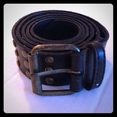 CLEARANCE Brown belt with bronze grommets Brown leather look belt with bronze metal grommets. Accessories Belts