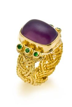 Beautiful!  purple chalcedony ring by Patricia Tschetter; photography by Marilyn O'Hara.