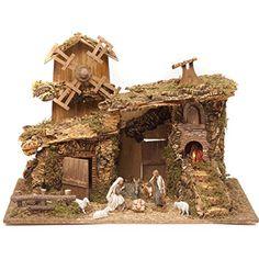 Resultado de imagen para escenografia para belenes Christmas Nativity, Christmas Holidays, Christmas Decorations, Xmas, Holiday Decor, Diorama, Vintage Christmas, Arts And Crafts, Corn Husking