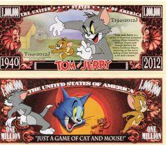 Tom & Jerry Million Dollar Novelty Money