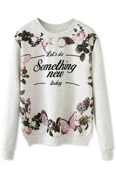 Something New Grey Demure Sweatshirt Grey Sweatshirt, Sweater Hoodie, Graphic Sweatshirt, Printed Sweatshirts, Printed Shirts, Fashion Sweatshirts, Hoodies, Lady Grey, Tween Fashion