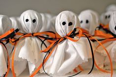 A Halloween Tradition. Tootsie Pop Ghosts for Halloween - fun to make with the kids then hand out.