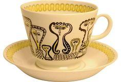 Arabia Finland Coffee Cup by Birger Kaipiainen Vintage Pottery, Vintage Ceramic, Pottery Art, Tablewares, Fika, Mid Century Decor, Ceramic Design, Decoration, Scandinavian Design