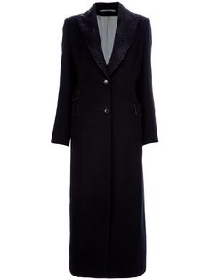 KITON velvet lapel long coat
