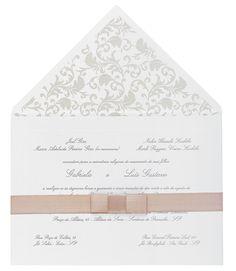Noiva - Convites que imprimem o estilo dos noivos à festa de casamento