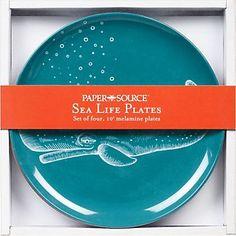 Paper Source Sea Life Plates (melamine) $24.95 paper-source.com