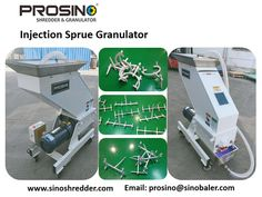 During injection processes, a lot of sprue waste is generated. A injection sprue granulator is very necessary to be installed beside each injection machine for immediately crushing the sprue waste into plastic particles. PROSINO supplied top quality sprue granulating machines. Mesh Screen, Reuse, Purpose, Plastic, Top, Crop Shirt, Shirts
