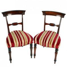 Pair of Georgian Rosewood Chairs