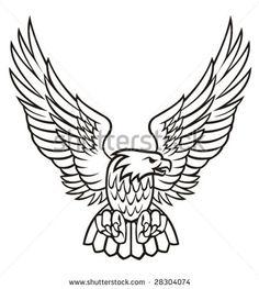 harley davidson eagle vector images | Eagle vector illustration - stock vector