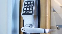 Home Security Electronic Door Locks - A security door is an effective solution to include an extra component of protection f Home Security Companies, Alarm Companies, Home Security Tips, Home Security Systems, Security Products, Security Technology, Latest Technology, Security Alarm, Safety And Security