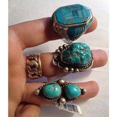 Fancy - turqoise rings
