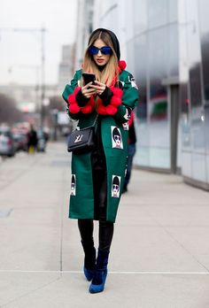 Green and red fantasy coat
