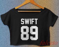 Taylor Swift Shirt Women Crop Tee T.S 1989 Album Swiftie Crop Top Women TS00