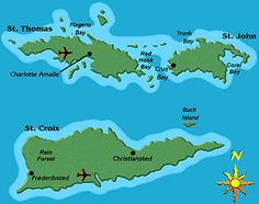 The US Virgin Islands including St Thomas St John and St