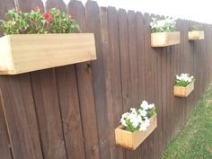hanging planter boxes on the fence gardening pinterest fences