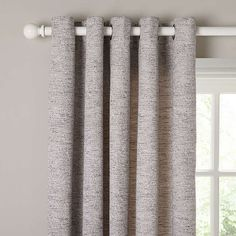 BuyJohn Lewis Boucle Texture Lined Eyelet Curtains, Grey, W167 x Drop 137cm Online at johnlewis.com
