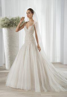64aaf825c4a9 Demetrios 606 A-Line Wedding Dress Fit And Flare Wedding Dress