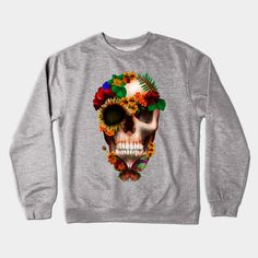 Sugar skull with Butterfly Crewneck #teepublic #Crewneck #halloween #mexicosugarskull #mexicoskull #dayofdead #mexicanart #muertes #diadelosmuertos #indian #native #nativeamerican #owl #pattern #skull #sugarskull #owls #chief #indianchief #flower #floral #roses #daisy #thedayofthedead