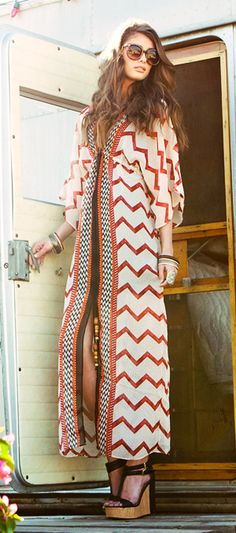 Be a festival muse in a zigzag maxi!