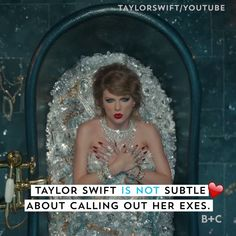 Taylor Swift is not subtle about calling out her exes. Watch this video to see all the times she calls out one of her ex-boyfriends in one of her songs or videos.