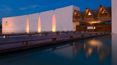 Before you even reach the lobby of Grand Velas Riviera Maya, you are met by large, striking white walls on either side of a check-in booth. Fronted by a sparkling pond, the entrance is stunning and a good indication of the level of luxury you can