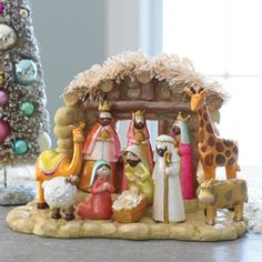 Nativity in pinks and corals, I think this could be the one for me.