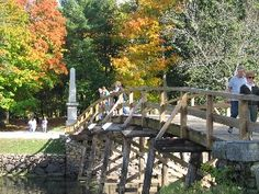 """Concord Bridge (""""The rude bridge that arched the flood. Beautiful Places To Visit, Wonderful Places, Places To See, Places Ive Been, New England States, New England Homes, Vacation Wishes, Roadside Attractions, The Good Place"""