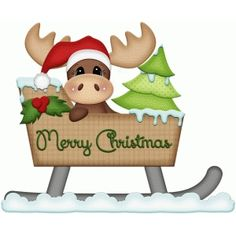 Silhouette Design Store - View Design moose in sleigh christmas print and cut Christmas Moose, Christmas Rock, Christmas Bells, Christmas Pictures, Winter Christmas, All Things Christmas, Christmas Time, Christmas Crafts, Christmas Decorations