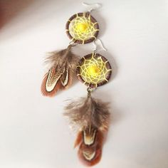 leather dreamcatcher earrings feathers earrings dangle earrings dreamcatcher jewelry boho earrings teens earrings teens jewelry for her