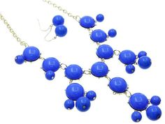 Blue Bubble necklace!  this is not as large as the JCrew ones, I like the smaller version!