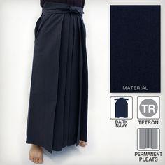 Deluxe Tetron Hakama - Dark Navy (Permanent Pleats) Martial Arts Supplies, Dark Navy, Midi Skirt, Skirts, How To Wear, Fashion, Moda, Midi Skirts, Skirt