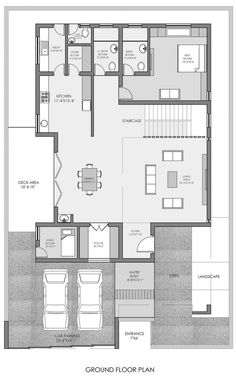 Image 26 of 31 from gallery of S-House / GALI Associates. 40x60 House Plans, Terraced Landscaping, Facade Lighting, Concrete Finishes, Wood Cladding, Entrance Foyer, Ground Floor Plan, Second Floor, Floor Plans