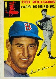 1954 Topps Ted Williams - Boston Red Sox Good - Very Good Condition! Red Sox Baseball, Baseball Socks, Cardinals Baseball, Sports Baseball, Baseball Uniforms, Baseball Memes, Baseball Videos, Baseball Live, Mets Baseball
