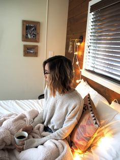 Love everything: hair, room, sweater, etc. etc. etc.